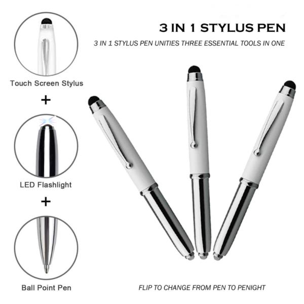 Led Pen with Stylus