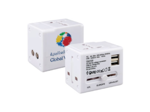 Universal Travel Adapter White Color