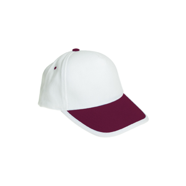 Cotton Caps White and Maroon