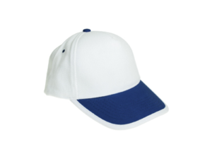 Cotton Caps White and Navy Blue