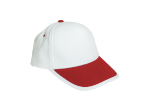 Cotton Caps White and Red