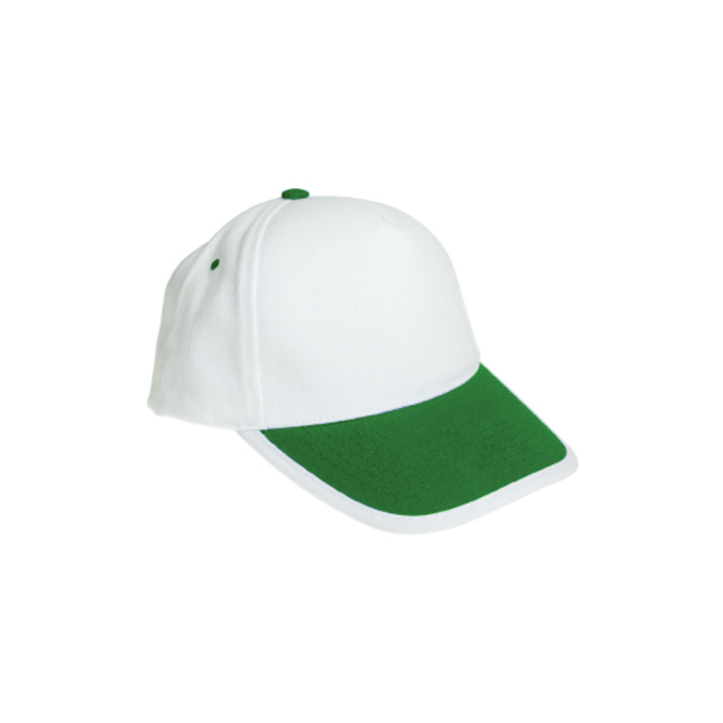 Cotton Caps White and Green