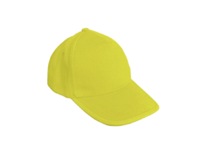 Cotton Caps Solid Yellow Color