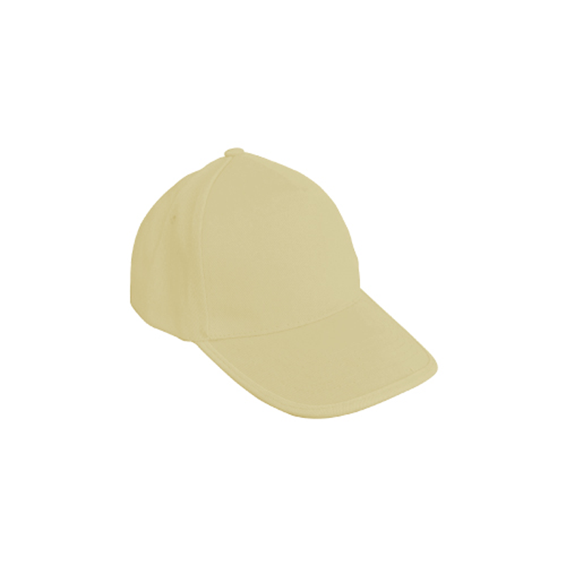 Cotton Caps Solid Beige Color