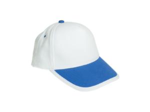 Cotton Caps White and Royal Blue Color