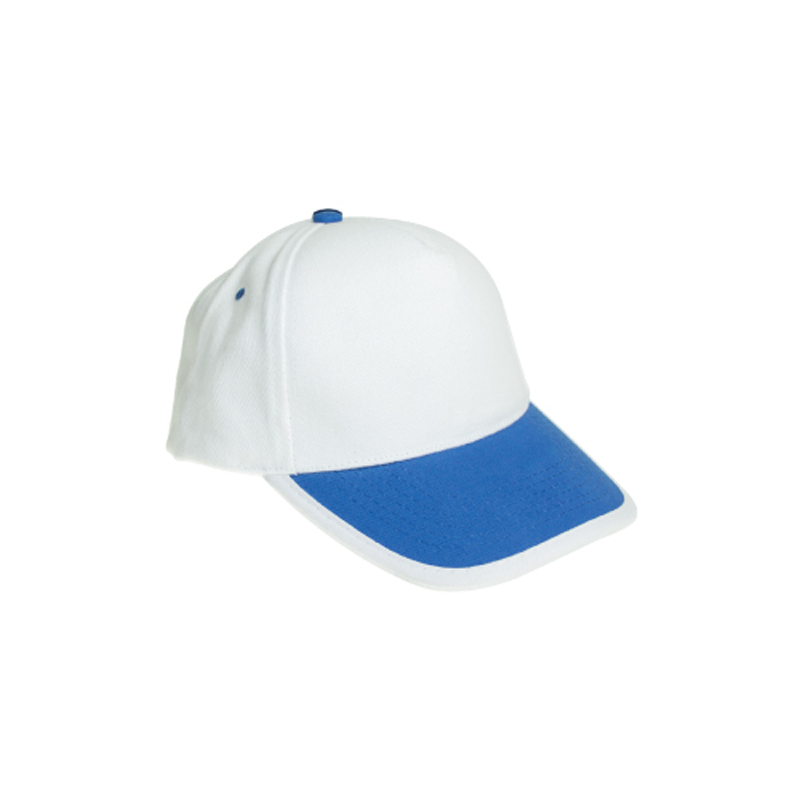 Cotton Caps White and Royal Blue Color