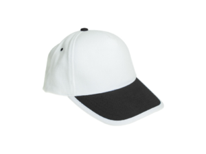 Cotton Caps White and Black Color