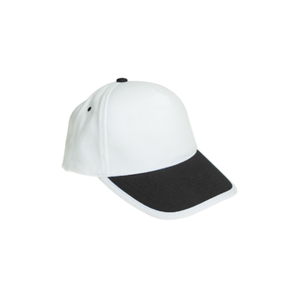Cotton Caps White and Black Color