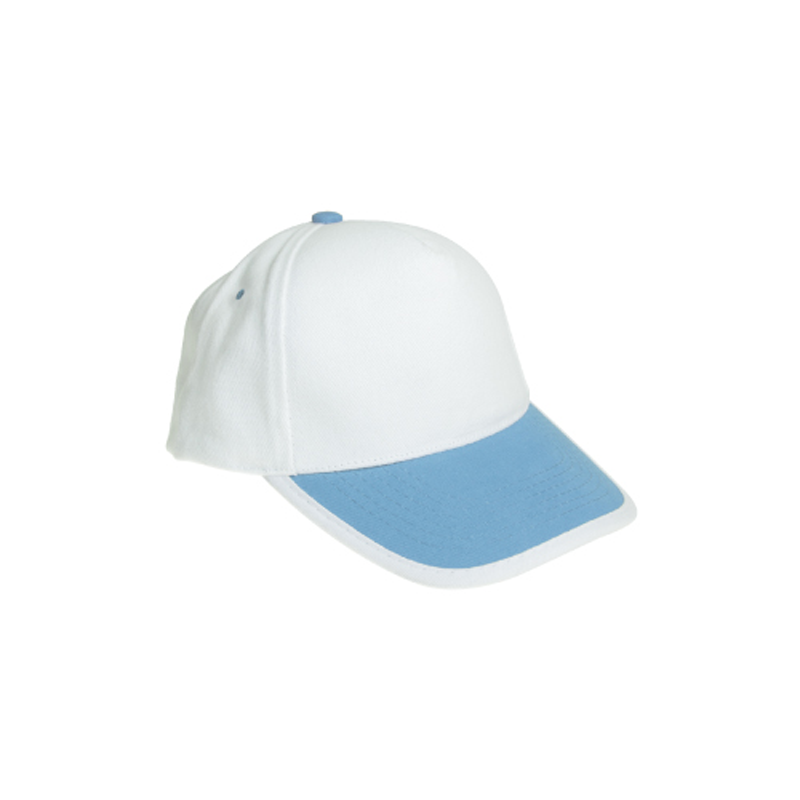 Cotton Caps White and Light Blue Color