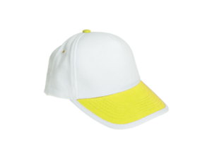 Cotton Caps White and Yellow Color