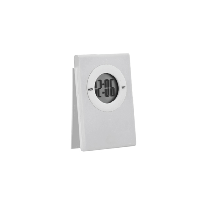 Table Clock with Magnetic Clip - White