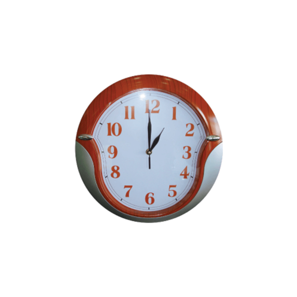 Promotional Wall Clocks Silver and Brown