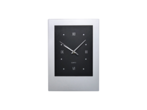 Rectangle Wall Clock Silver