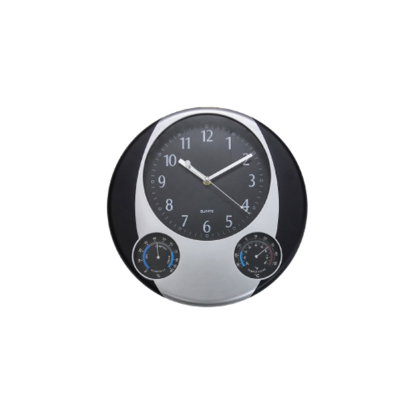 Round Wall Clock with Black Sides