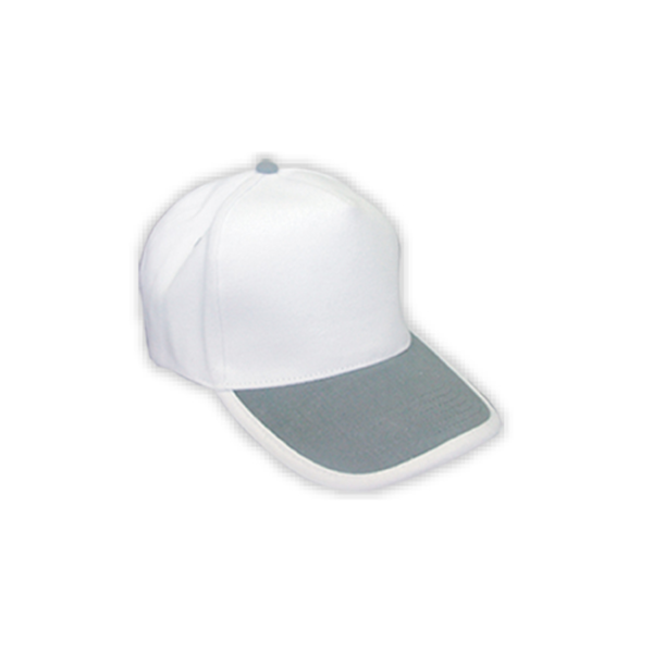 Cotton Caps White and Grey Color