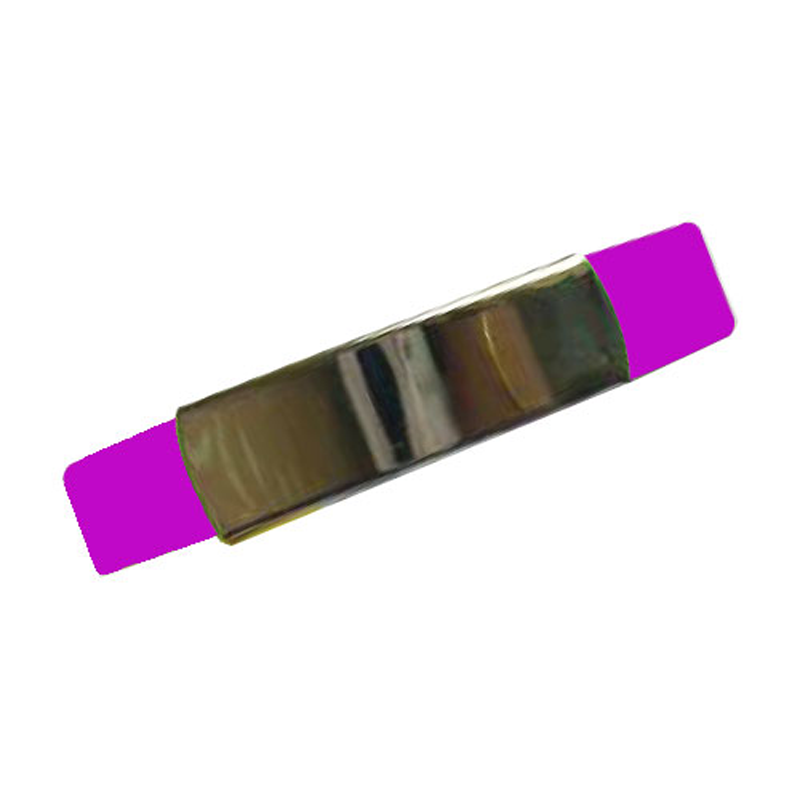 Silicone Wristband with Metal Part Pink