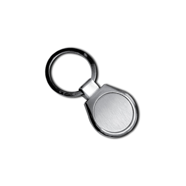 Two side Plates Metal Keychain with Box