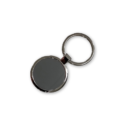 Metal Keychain Shiny Black