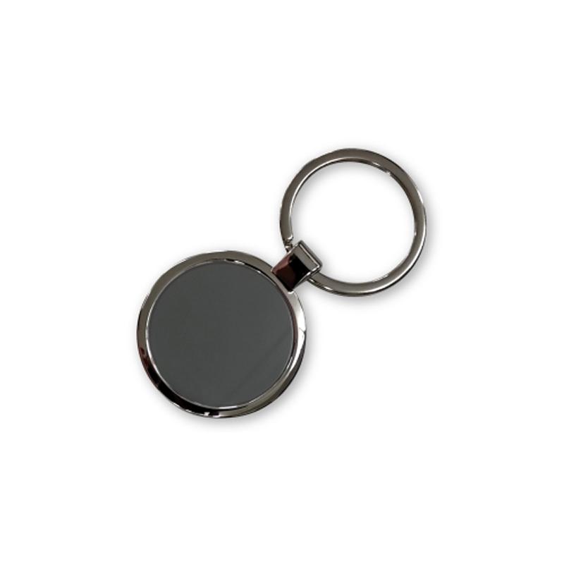 Metal Keychain Shiny Black