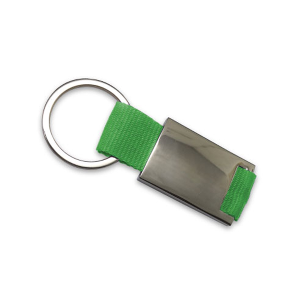 Promotional Metal Keychains Green