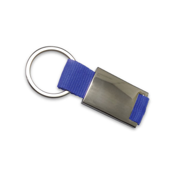 Promotional Metal Keychains Blue