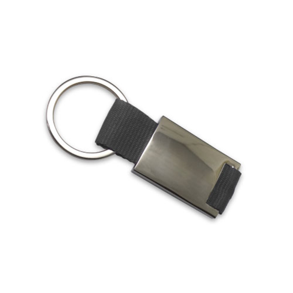 Promotional Metal Keychains Black