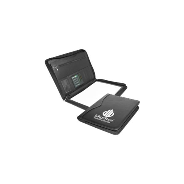 Folder with Zipper and Calculator