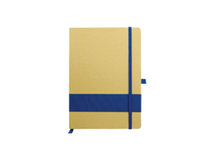 Eco Friendly Notebook with Strip Blue