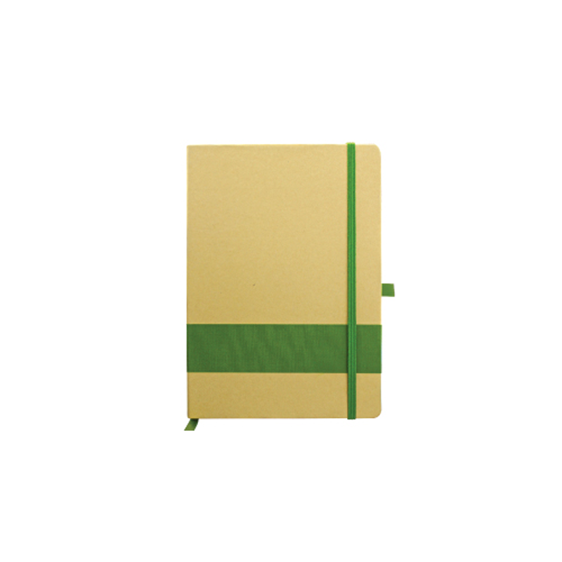 Eco Friendly Notebook with Strip Green