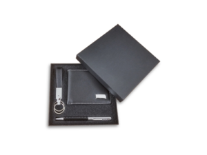 PU Leather Wallet with Keychain and Pen