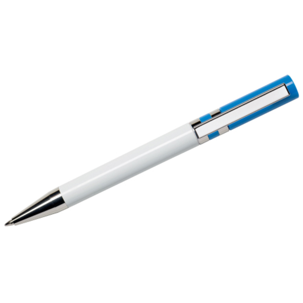Maxema Ethic Pen - White with Royal Blue Clip
