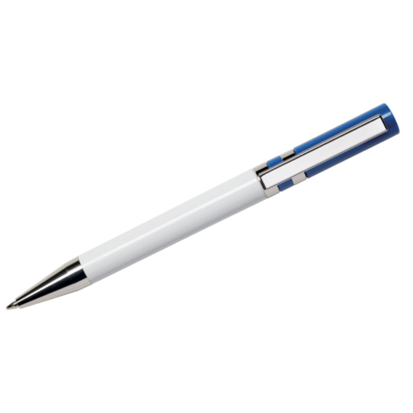 Maxema Ethic Pen - White with Navy Blue Clip