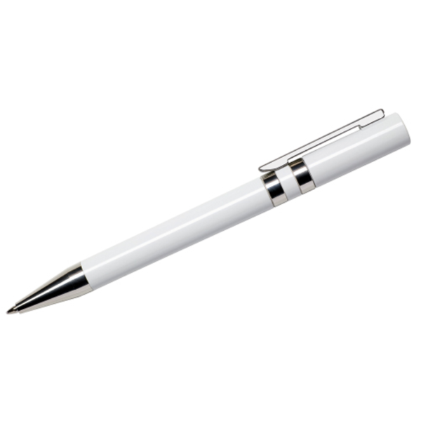 Maxema Ethic Pen - White with Chrome Clip