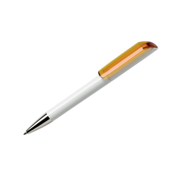 Promotional Gifts Pen Maxema Flow Transparent Light Orange
