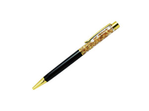 Luxury Metal Pen with Gold Flakes