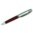 Leather Metal Pen – Black