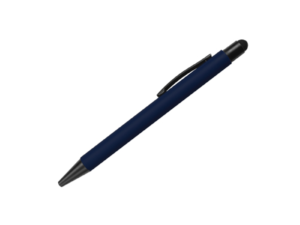 Rubberized Pens with Stylus Dark Blue Color