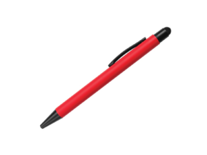 Rubberized Pens with Stylus Red Color