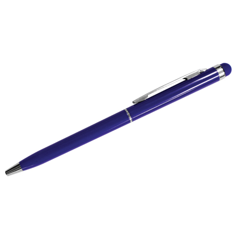 Slim Metal Pens with Stylus - Blue Color