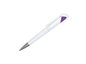 Branded Plastic Pens - Purple
