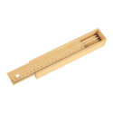 Colored Pencils, Ruler, Eraser, Sharpner with Wooden Box