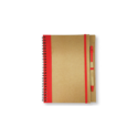Recycled Notepad with Pen – Red