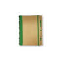 Recycled Notepad with Pen – Green