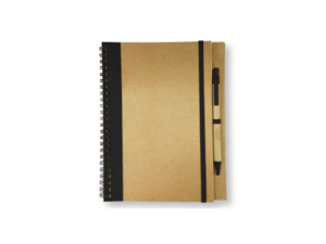 Recycled Notepad with Pen - Black
