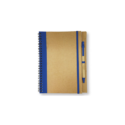 Recycled Notepad with Pen – Blue
