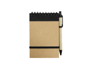 Recycled Notepad with Pen Black
