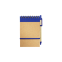 Recycled Notepad with Pen Blue