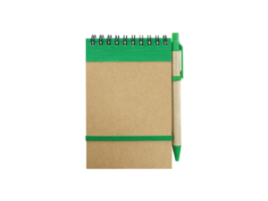 Recycled Notepad with Pen Green