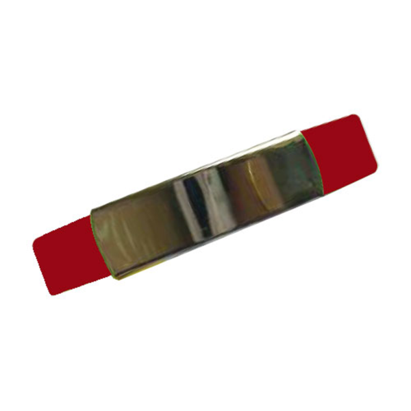 Silicone Wristband with Metal Part Maroon