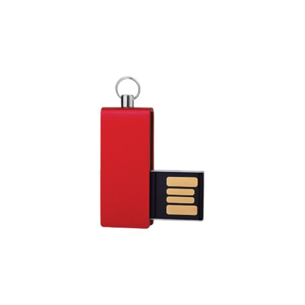 Mini USB Flash with Red swivel